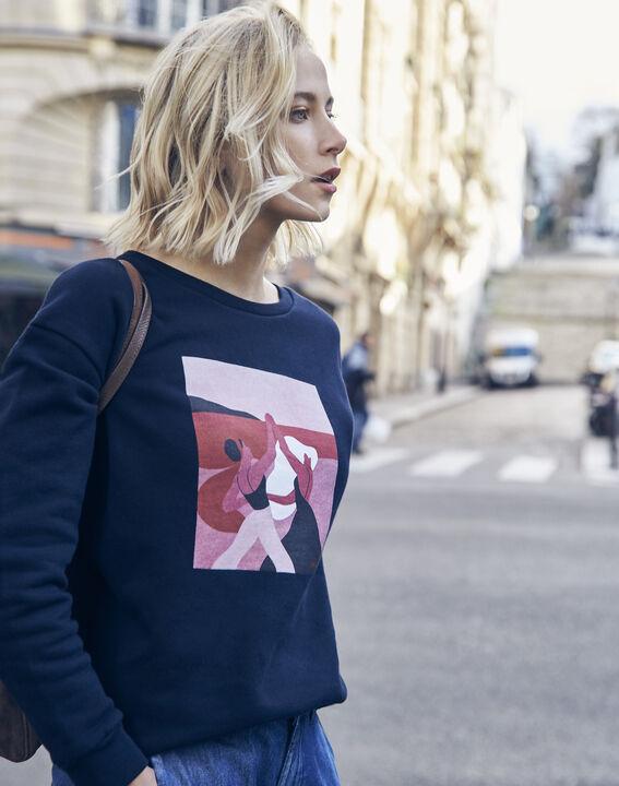 Sweatshirt marineblau Damen Internationaler Frauentag (1) - Maison 123