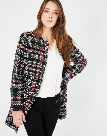 Manteau à carreaux en tweed Joly (3) - 1-2-3