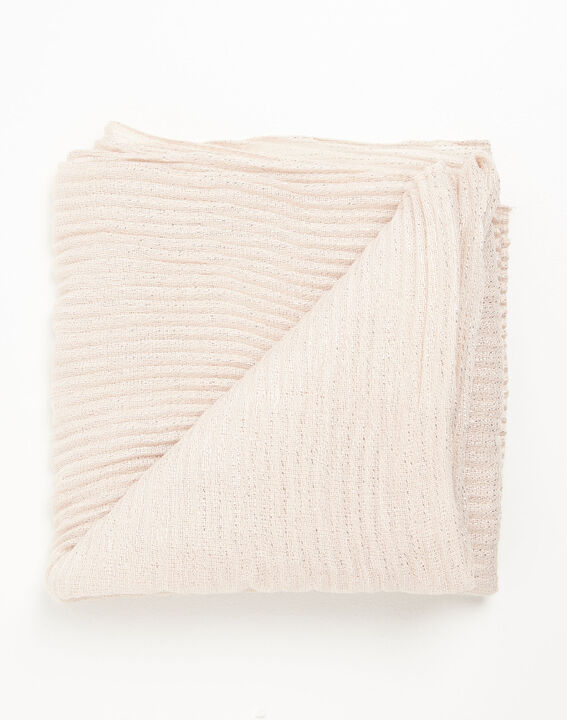 Nude sjaal met metalen draad Flash (2) - 37653