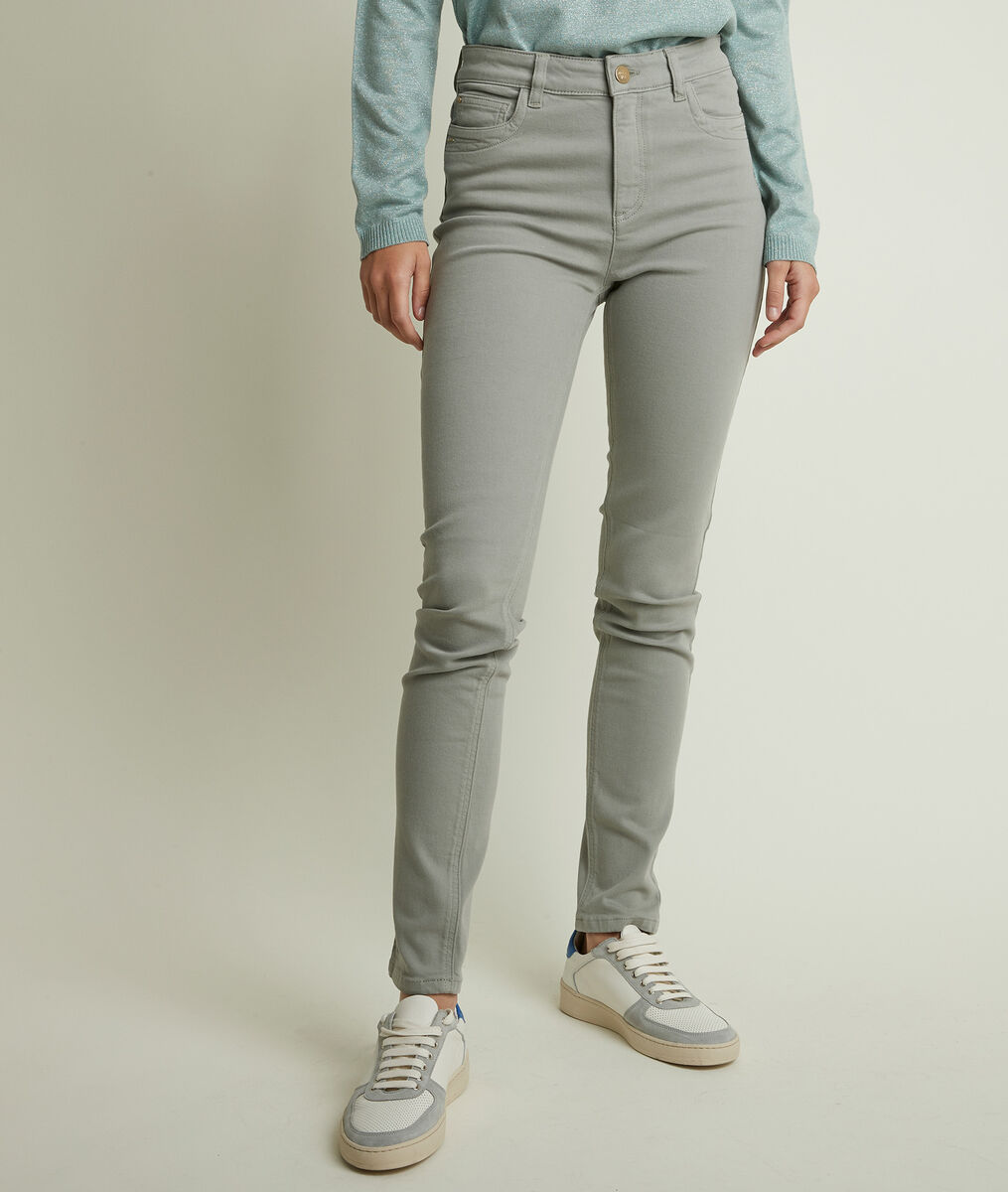 L'iconique slim : jean céladon en coton recyclé Suzy PhotoZ | 1-2-3