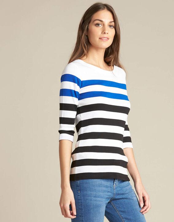 Gestreiftes 3/4-Arm-T-Shirt Eguemarine (3) - 1-2-3