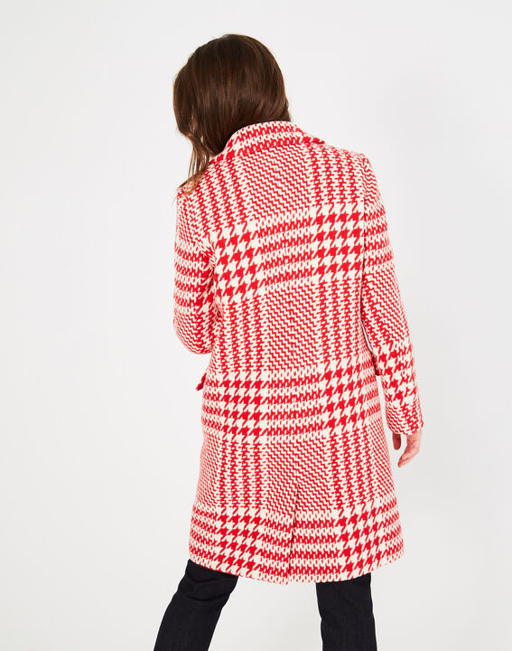 Jude red check coat in jacquard (5) - 1-2-3
