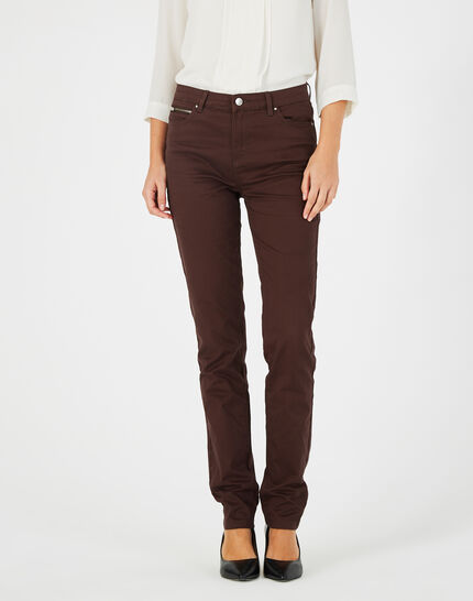 William slim-cut chocolate jeans (2) - 1-2-3