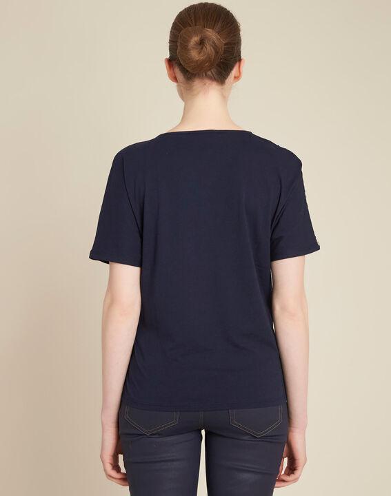 Erina navy blue printed T-shirt (4) - 1-2-3