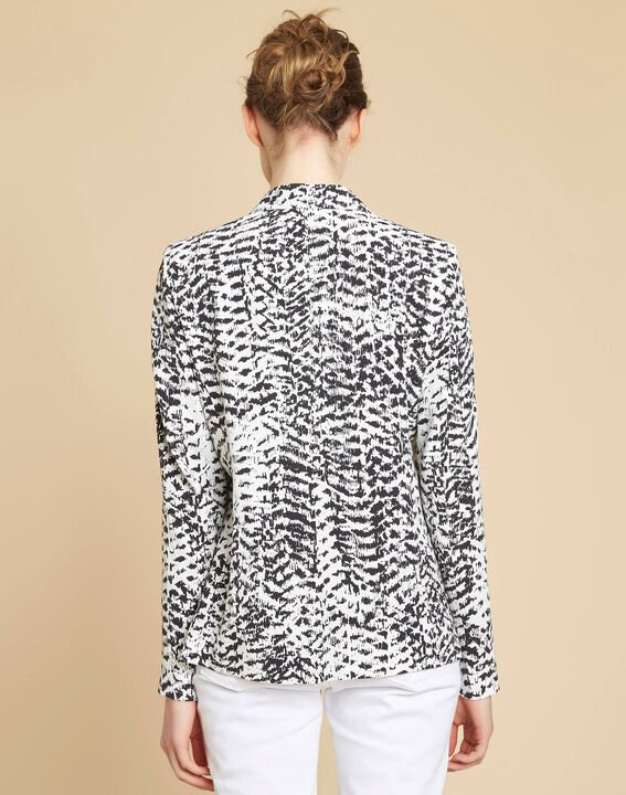 Demoiselle black and white printed jacket (4) - 1-2-3