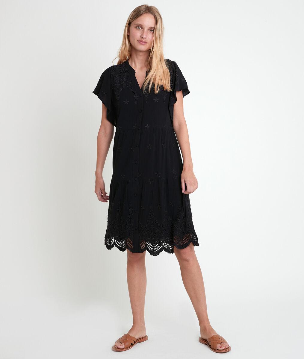 Robe brodée noire Loumea PhotoZ | 1-2-3