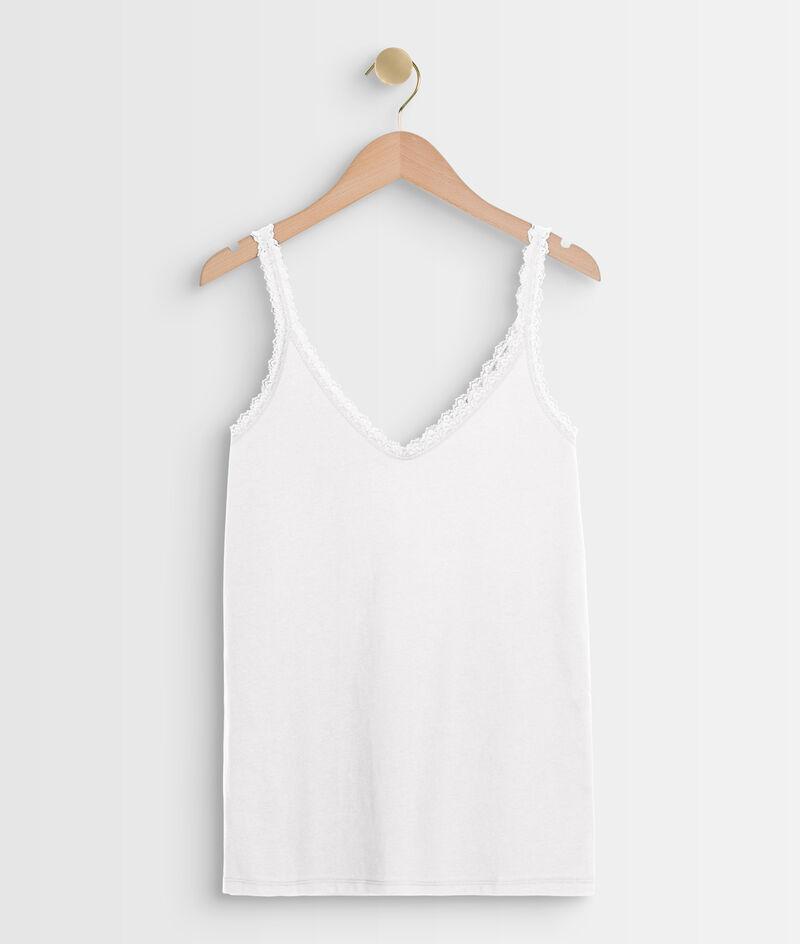 Débardeur en coton biologique blanc Rosa PhotoZ | 1-2-3