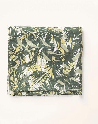 Khakifarbenes halstuch mit camouflage-print alo kaki.
