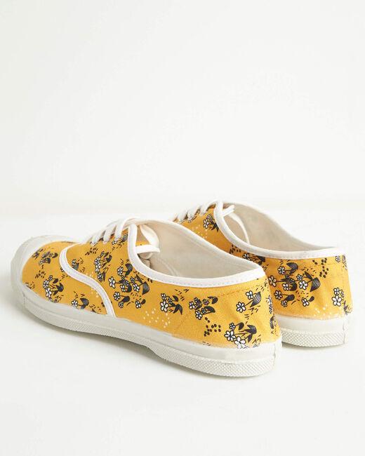 Kassandre cotton flower-printed shirt in yellow (2) - 1-2-3