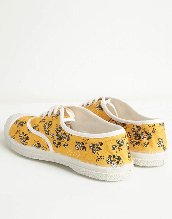 Baskets jaunes imprimé fleuri Kassandre (4) - 1-2-3
