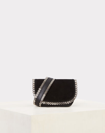 Ryme black leather bag with eyelets (2) - 1-2-3