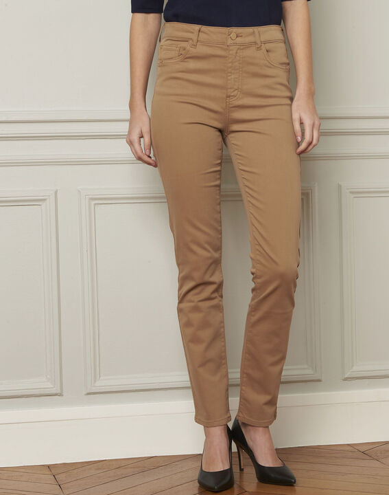 Jean beige 7/8e slim satin de coton Vendome PhotoZ | 1-2-3