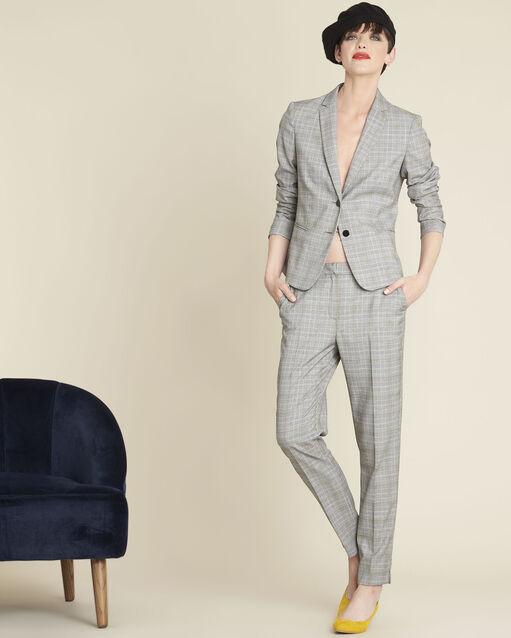 Veste grise motif Prince de Galles Sarry (1) - 1-2-3