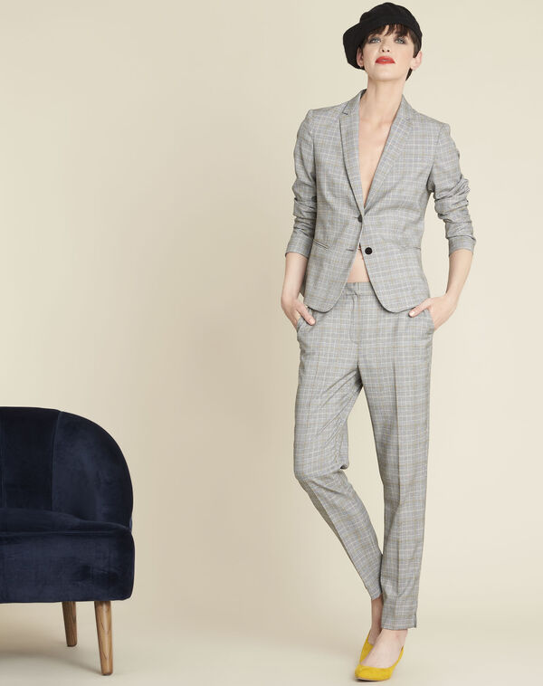 Grey Jacket with Prince of Wales design (1) - 1-2-3