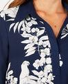 Robe chemise imprimé fleuri Azur (3) - 1-2-3