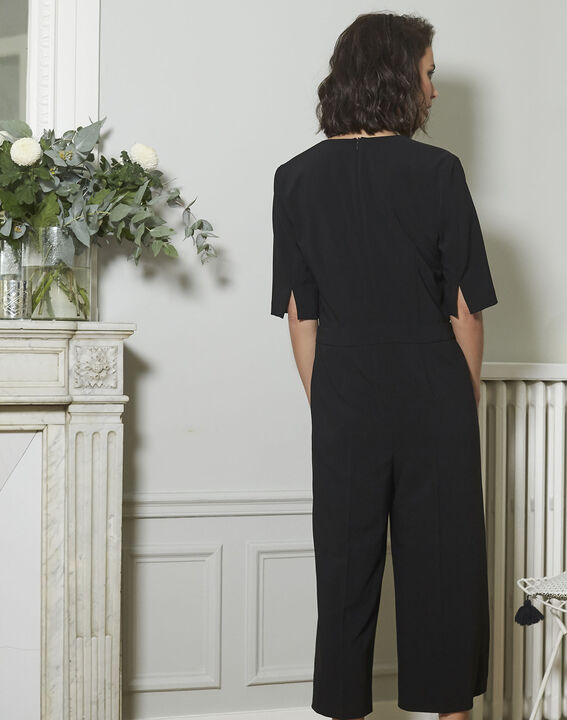 Nouchka Fitted Black Jumpsuit (4) - 1-2-3