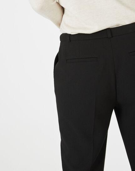 Pantalon jacquard noir Vanille (4) - 1-2-3