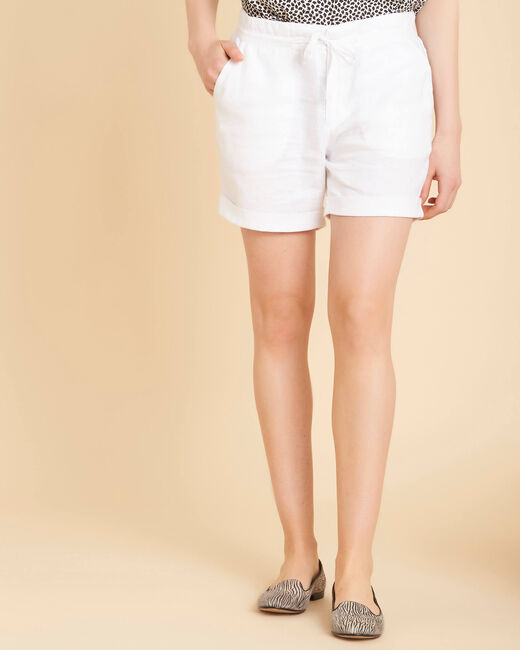 Citron white linen shorts (2) - 1-2-3