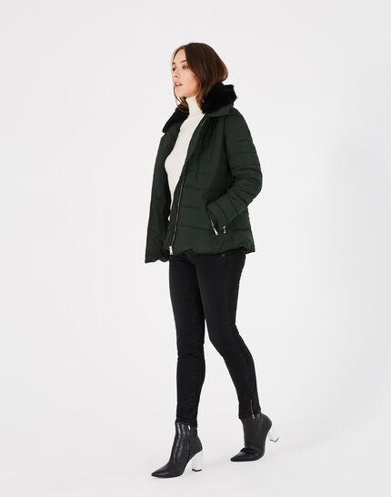 Laure short pine green puffer jacket (1) - 1-2-3