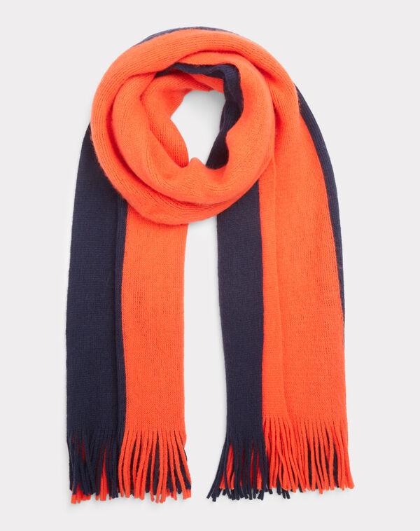 Echarpe noire et orange toucan à