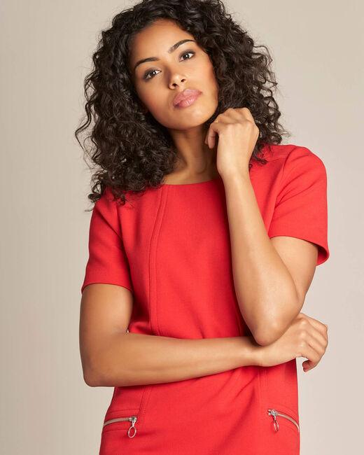 Robe droite rouge Amanda (2) - 1-2-3