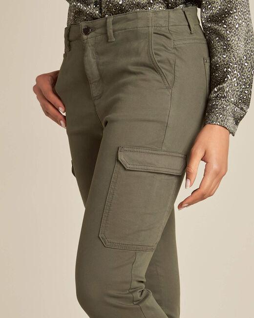 Pantalon kaki cargo 7/8ème Damien (2) - 1-2-3