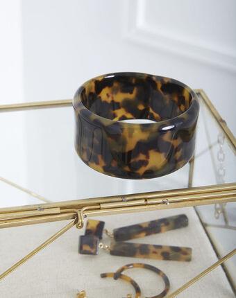 Bracelet en résine écaille tiffaine mordore.