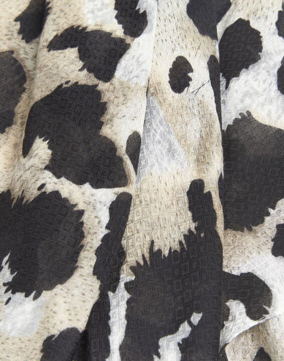 Folie black animal print scarf (2) - 1-2-3
