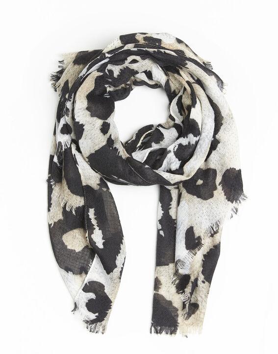 Foulard noir imprimé peau de bête Folie PhotoZ | 1-2-3