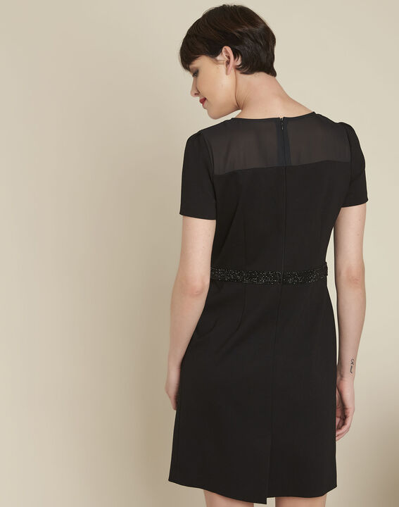 Ness black dress with rhinestone detailing (4) - 1-2-3