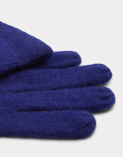 Blaue Kaschmir-Handschuhe Tulipe (2) - 1-2-3