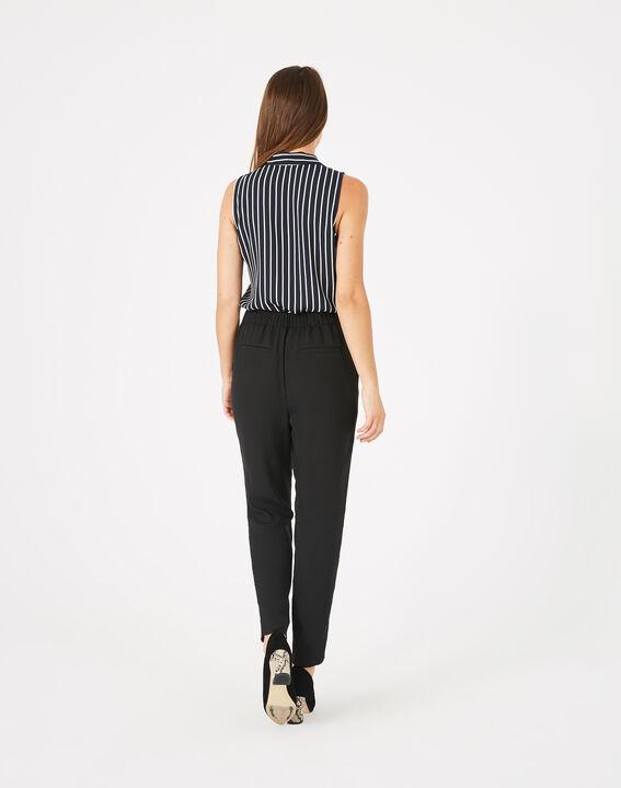 Pantalon noir en crêpe Daria (4) - 1-2-3