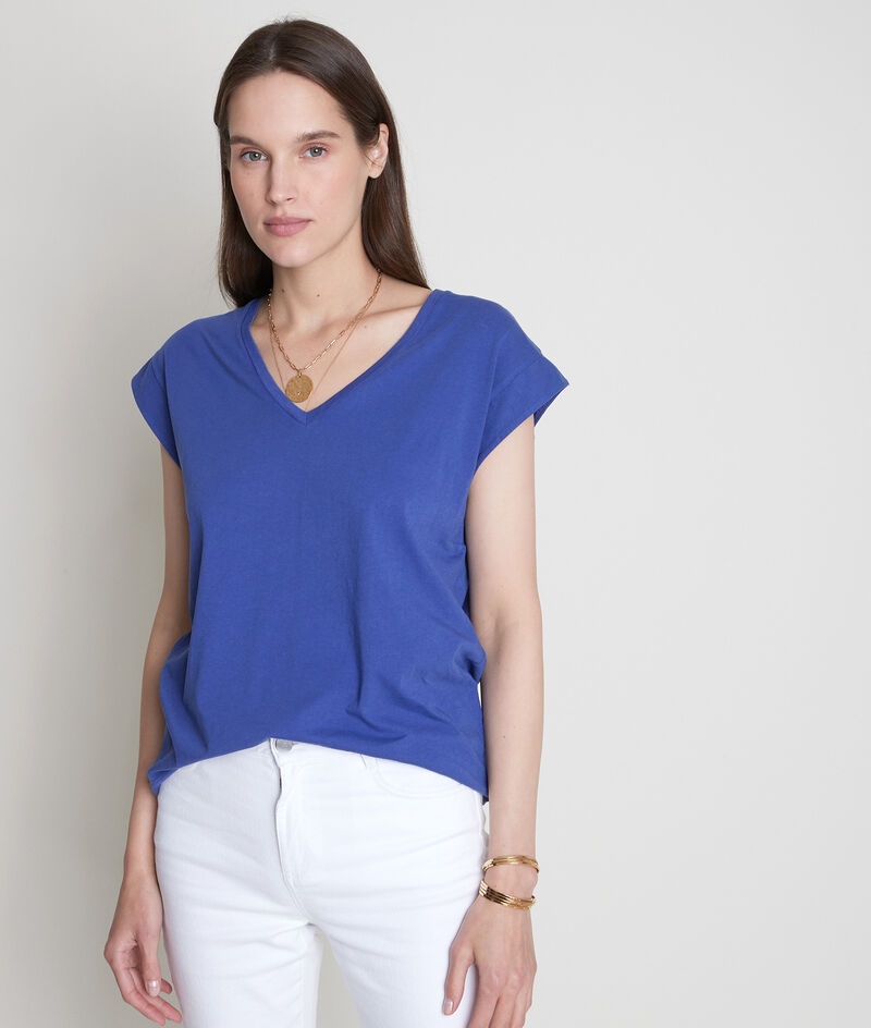Tee-shirt en coton bio myosotis Ideal PhotoZ | 1-2-3