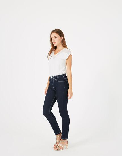 Raw Denim-Jeans mit weißen Ziernähten Oliver (1) - 1-2-3