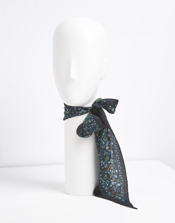 Cravate ceinture en soie imprimé fleuri Fidèle PhotoZ | 1-2-3
