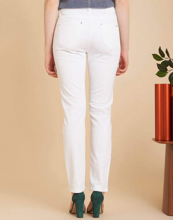 Weiße 7/8-Slim-Fit-Jeans Vendome (4) - 1-2-3