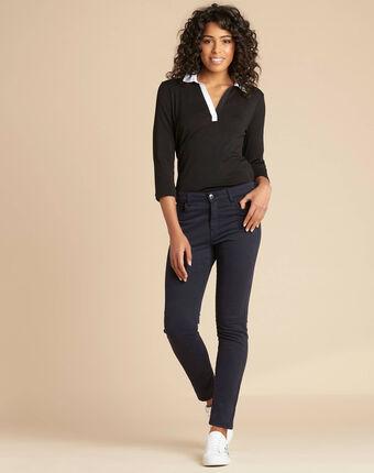 Marineblaue slim-fit-jeans normale leibhöhe vendome marineblau.