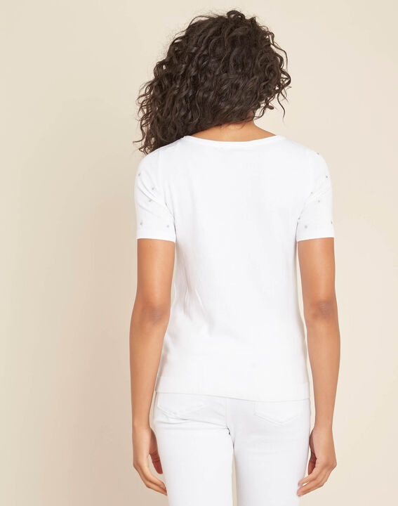 Nebuleuse white sweater with embroidered constellation (4) - 1-2-3