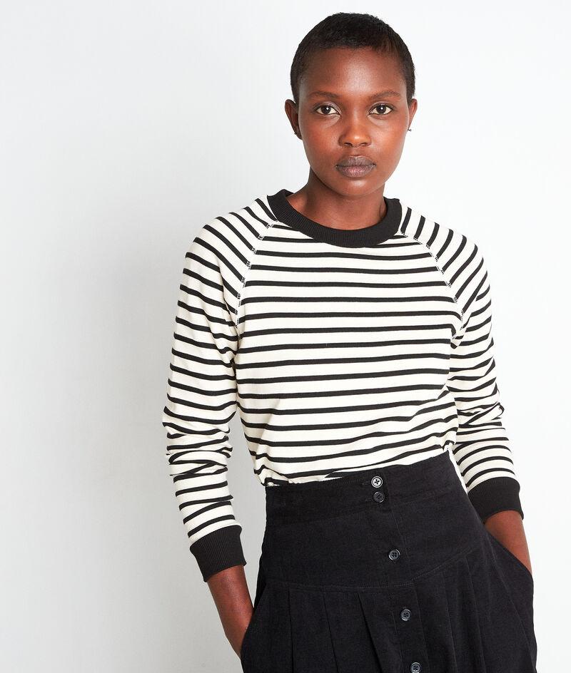 Tee-shirt à manches longues marinière noir et blanc Eve PhotoZ | 1-2-3