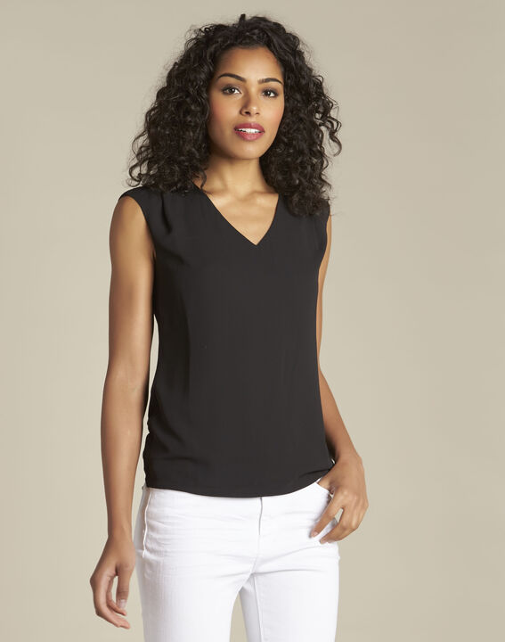 Neptune V-neck black T-shirt PhotoZ | 1-2-3