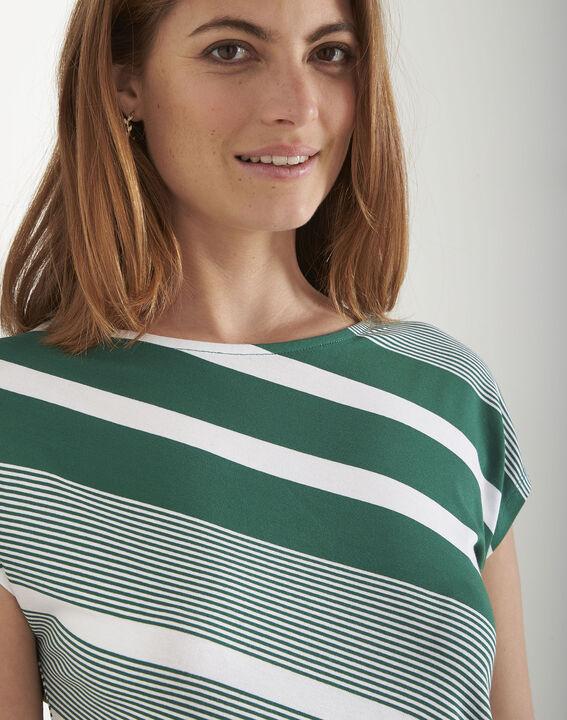 Tee-shirt vert rayé Port-au-Prince (1) - Maison 123