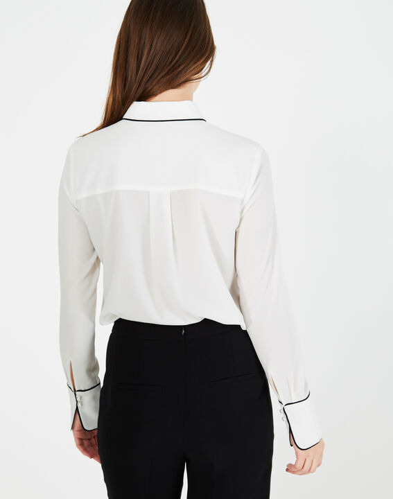 Darianne white blouse with trim (5) - 1-2-3