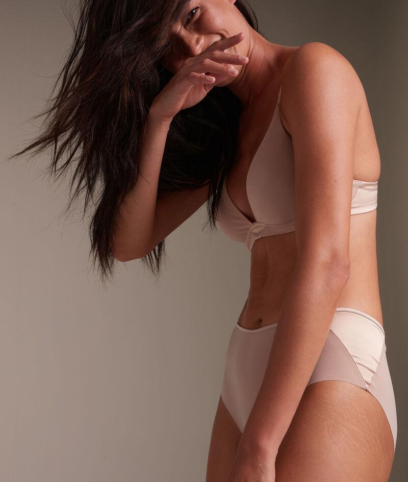 Shorty en microfibre nude Colette PhotoZ | 1-2-3
