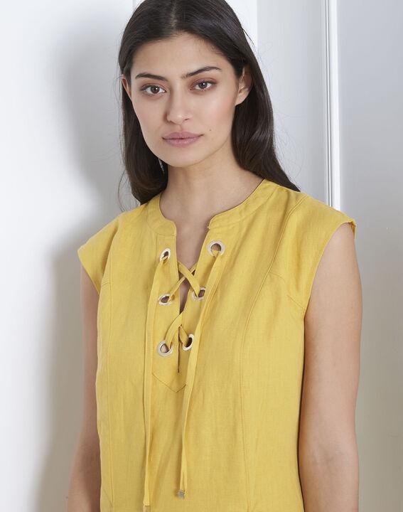 Robe jaune oeillets et lacets Lucky (3) - Maison 123