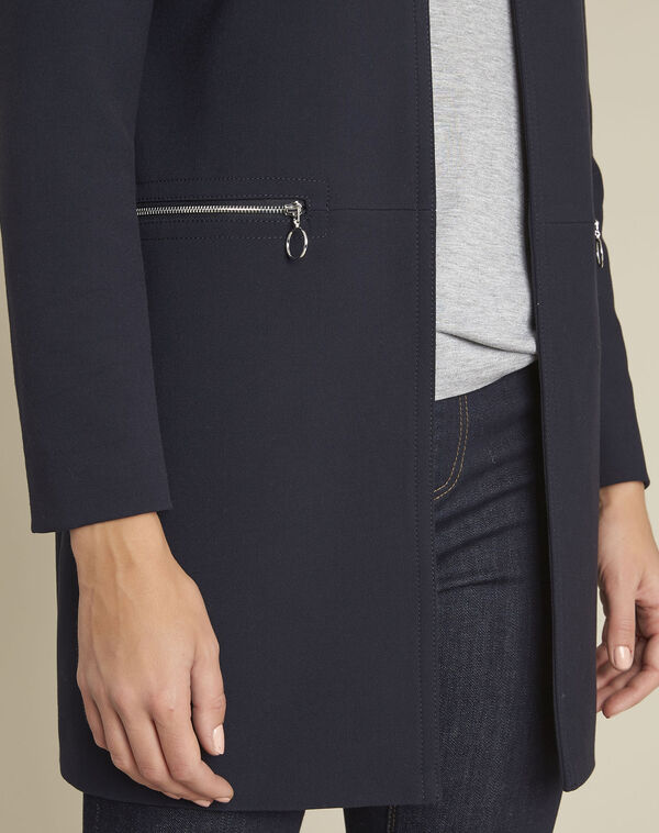 Manteau marine droit zips Kaya (2) - 1-2-3