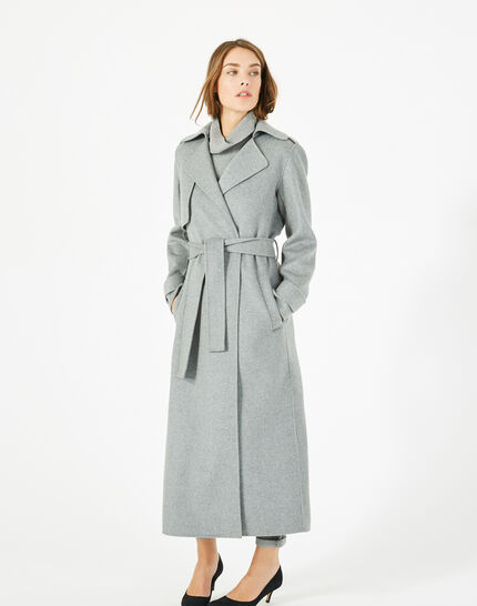 Manteau long gris en laine Jill (2) - 1-2-3