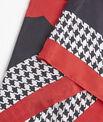 Carré de soie rouge motif pied de poule Fraise PhotoZ | 1-2-3