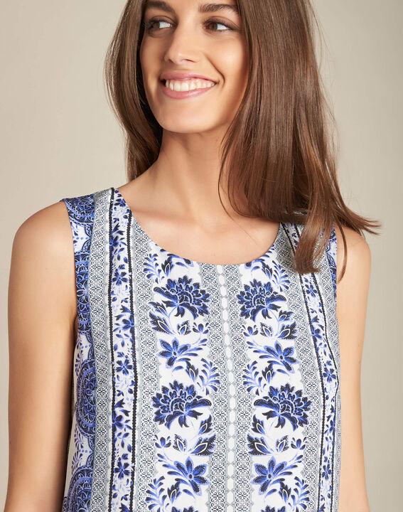 Pistil navy blue printed dress in silk PhotoZ | 1-2-3