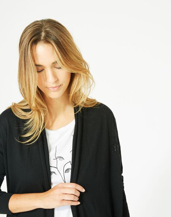 Pluton black cardigan/jacket with diamanté detailing (4) - 1-2-3