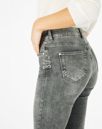 Jean gris 7/8ème lacets nolan chine moyen.
